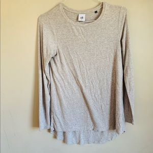 GUC Cabi Long Sleeve Tan Tunic Top size Small